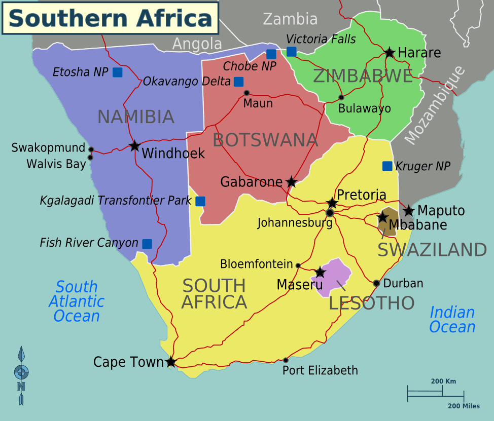 Africa Southern Africa Regions