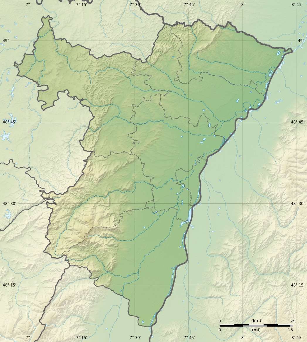 Bas Rhin Department Relief Location Map