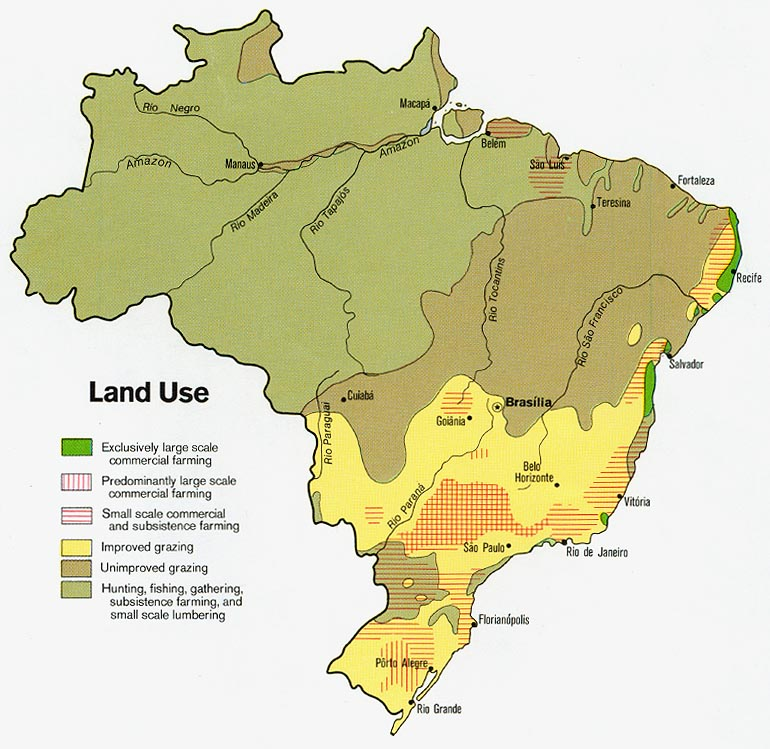 Brazil Land Use Map 1977