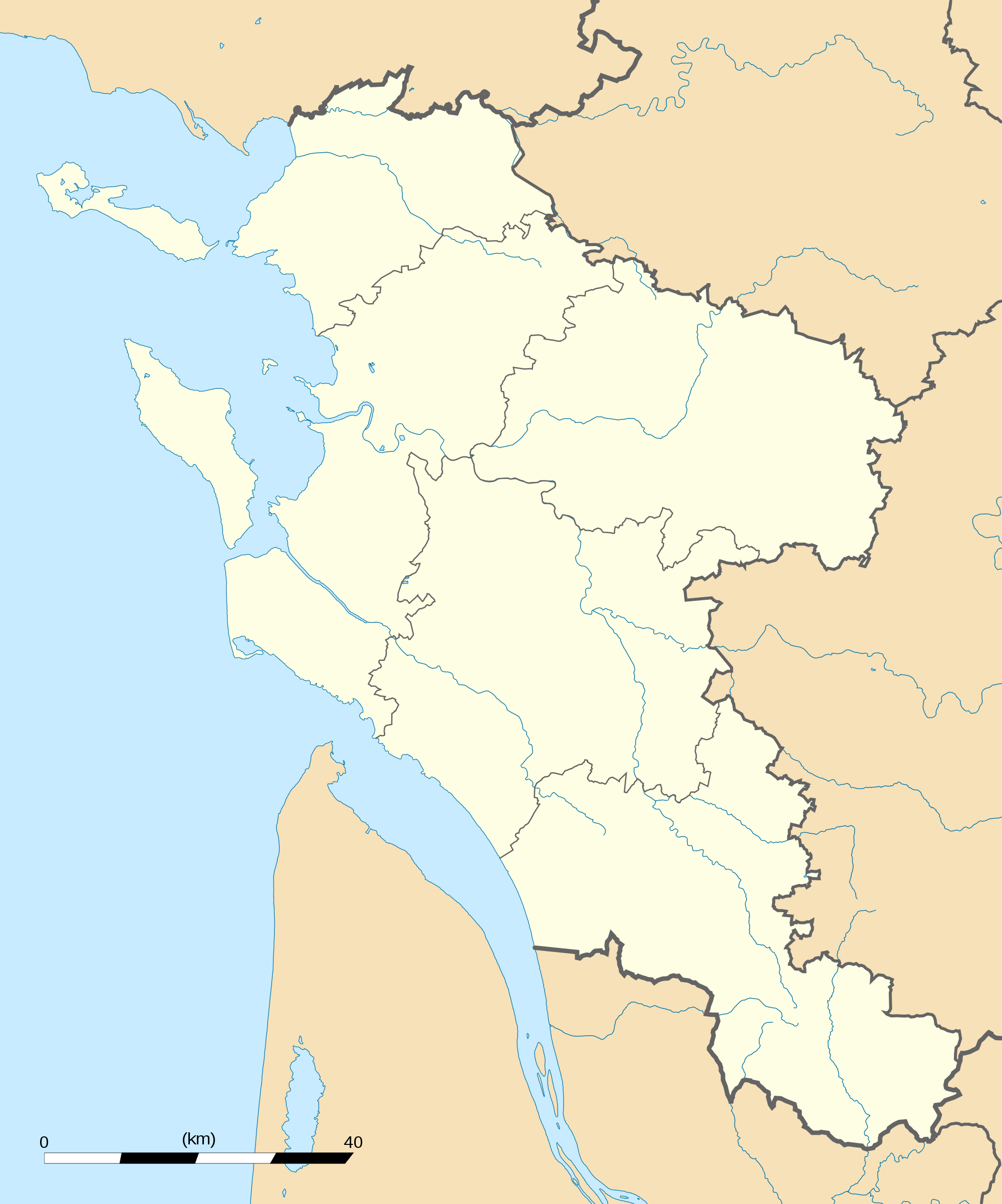 Charente Maritime Department Location Map