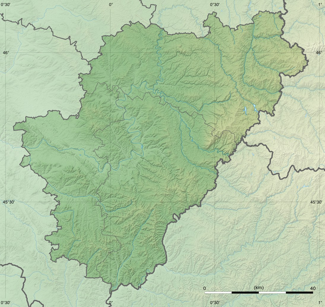 Charente Department Relief Location Map