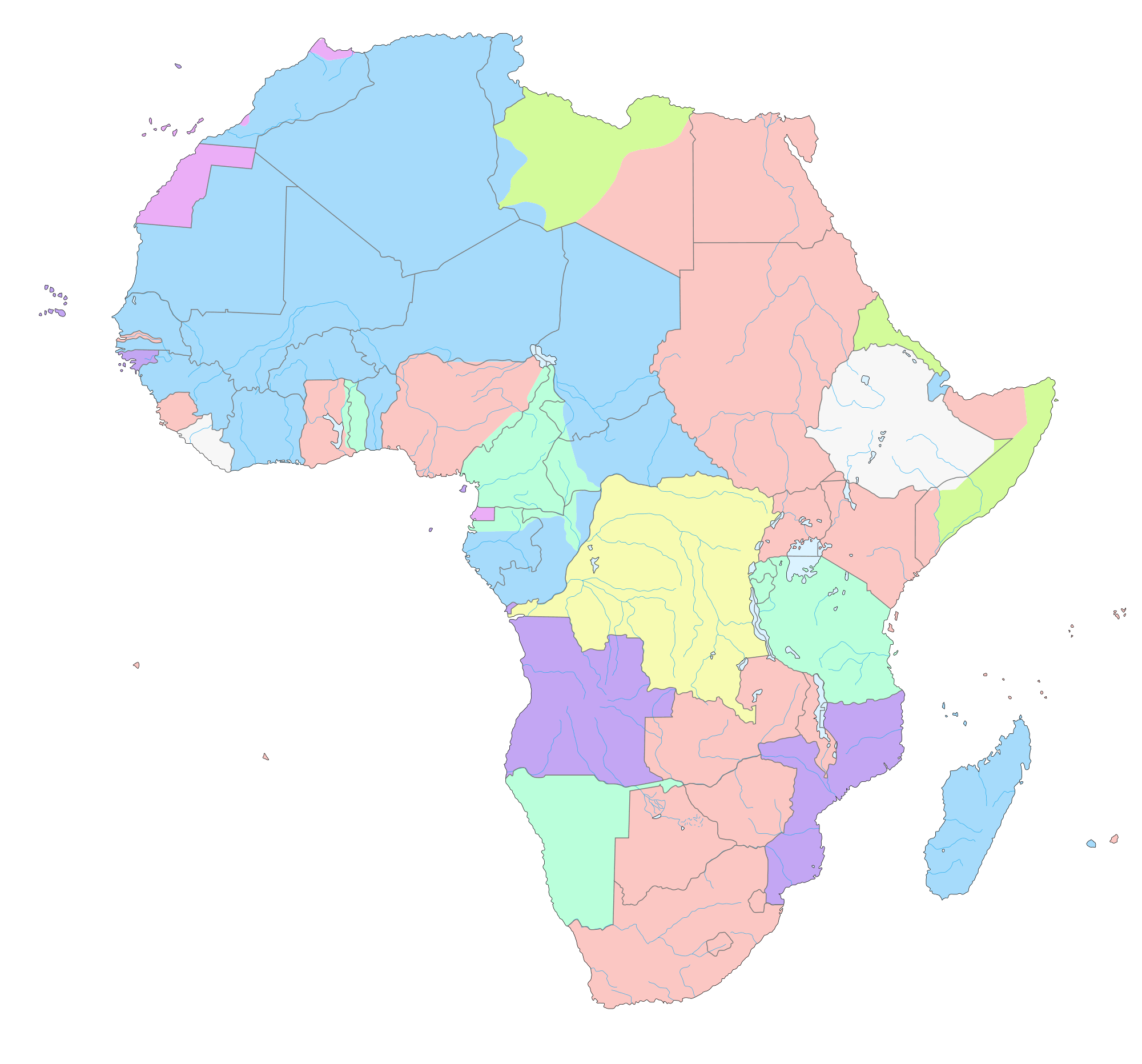 Colonial Africa 1913 Map