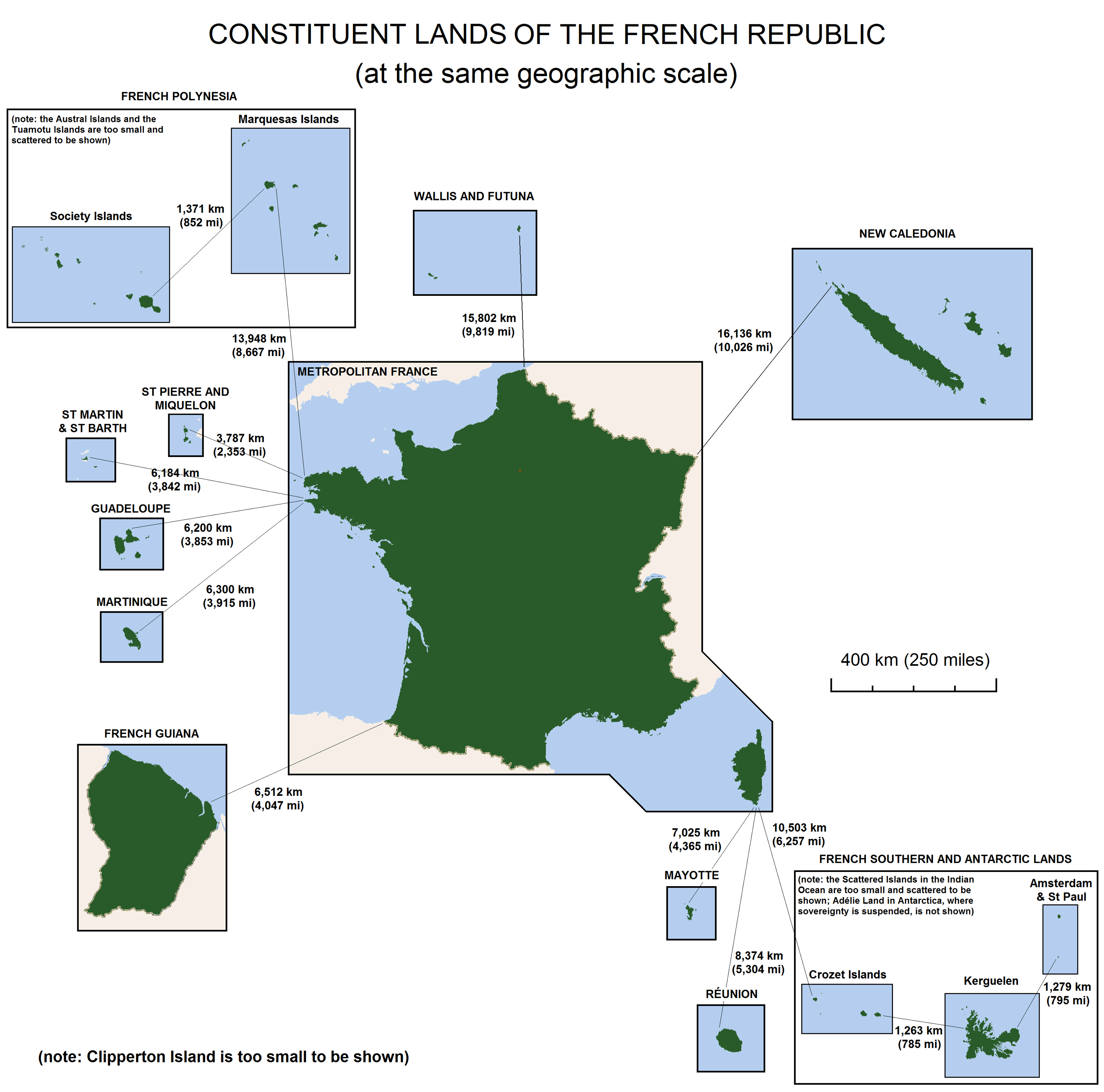 Constituent Lands of French Republic