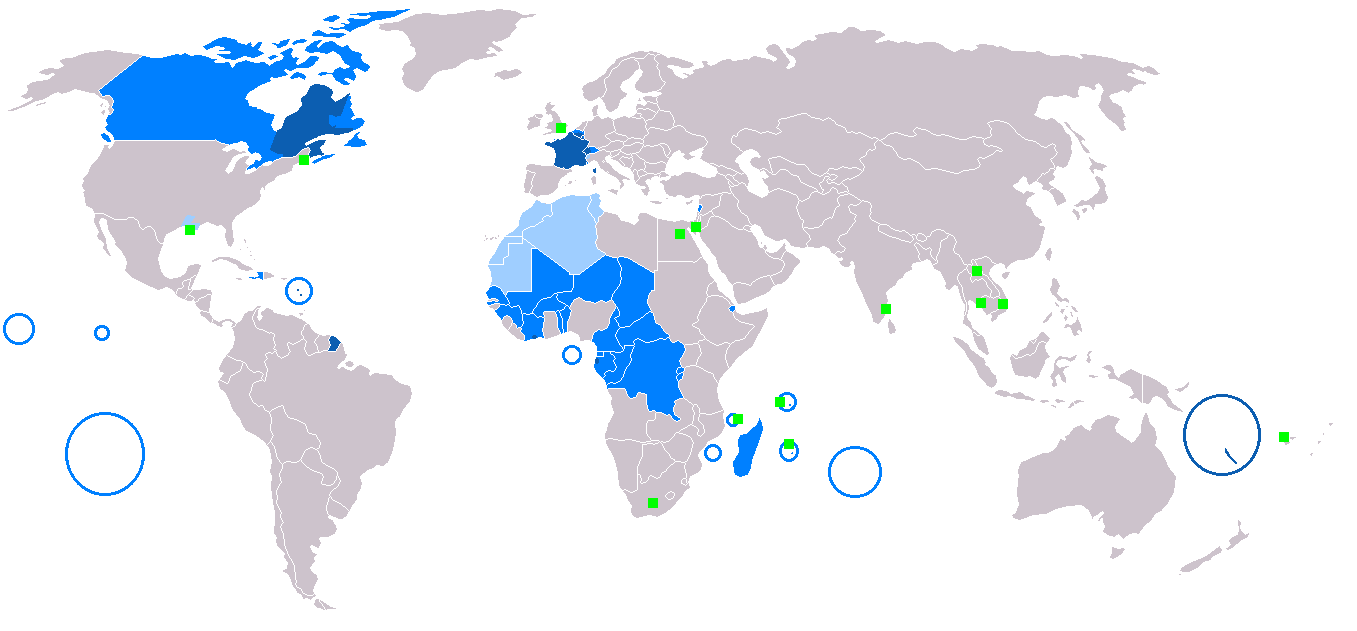 Francophone World Map