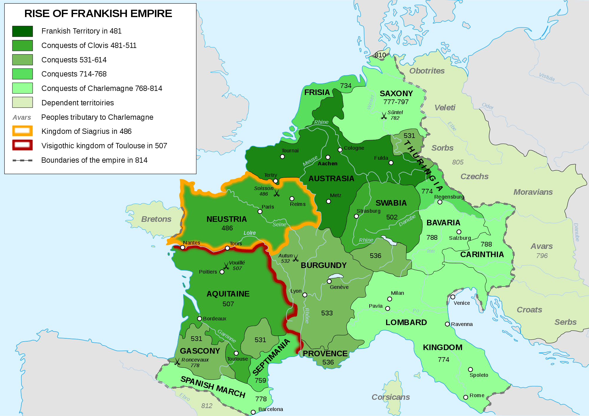 Frankish Empire 481 To 814