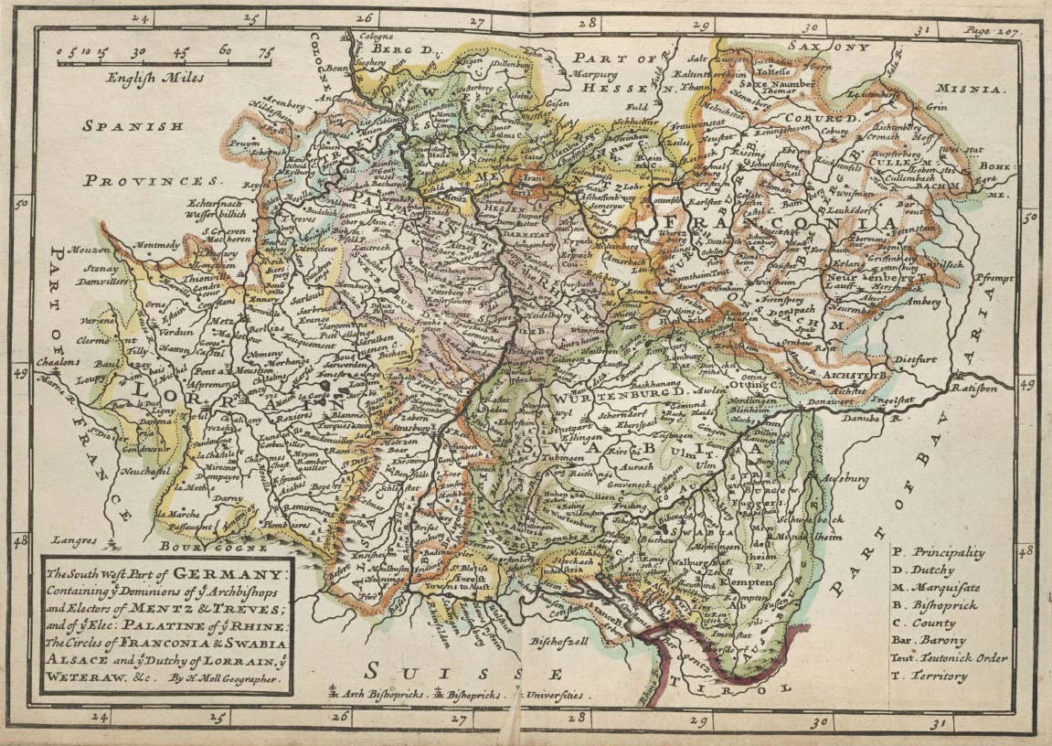 Germany Historical Map South West Mapsof Net