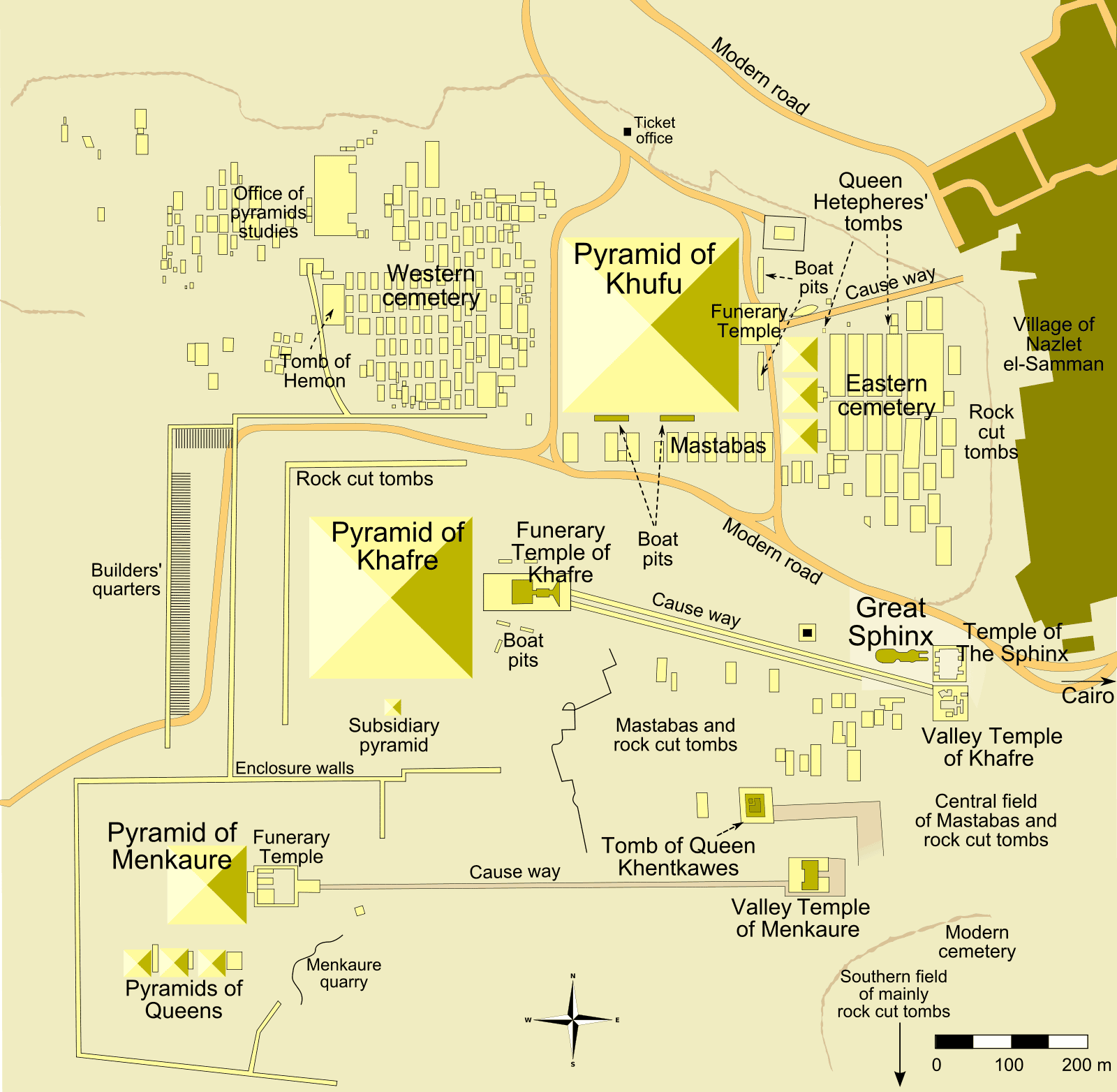Giza Pyramid Complex Map