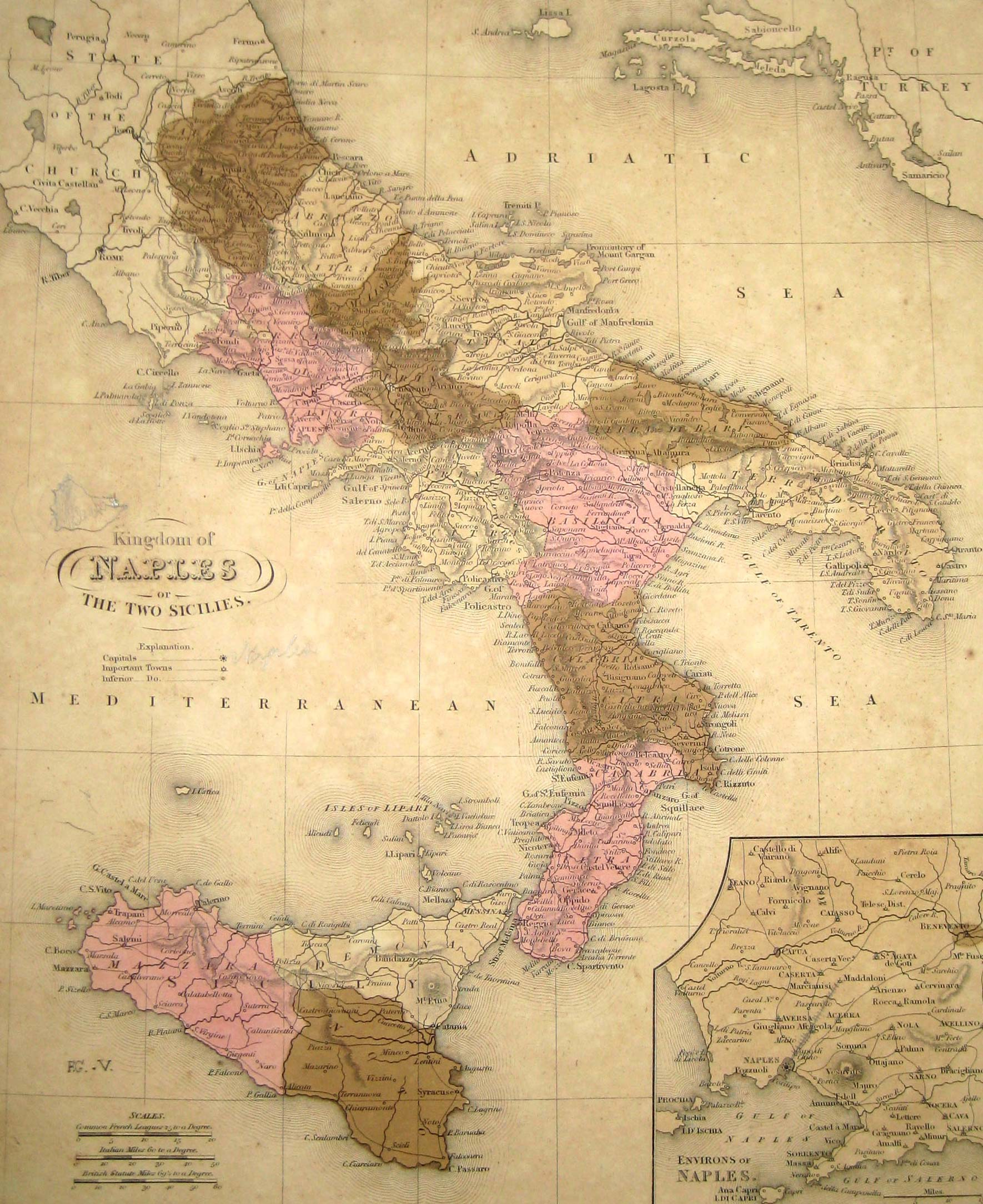 Historical Map Italy