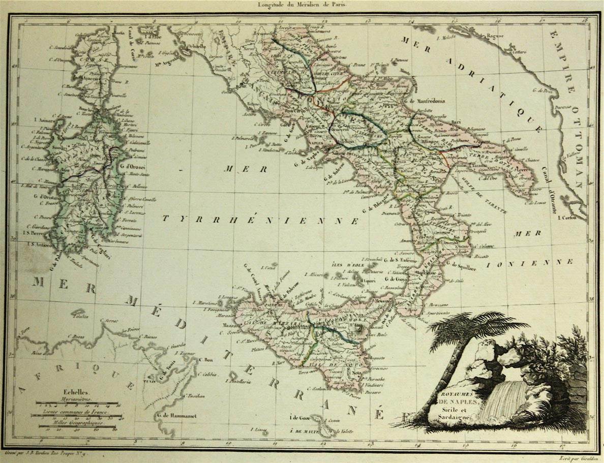 Historical Map Italy (1863)