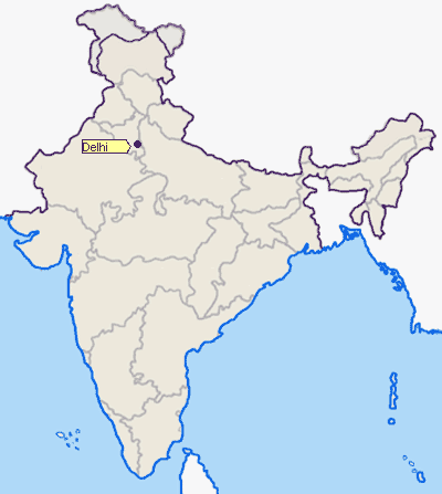 Location of Delhi Png