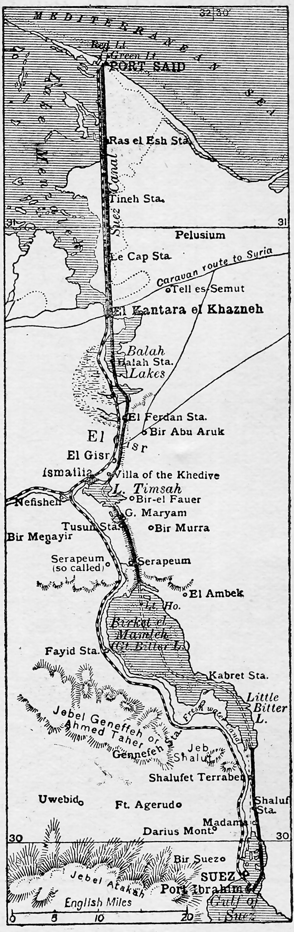 Map of Suez Canal 1906