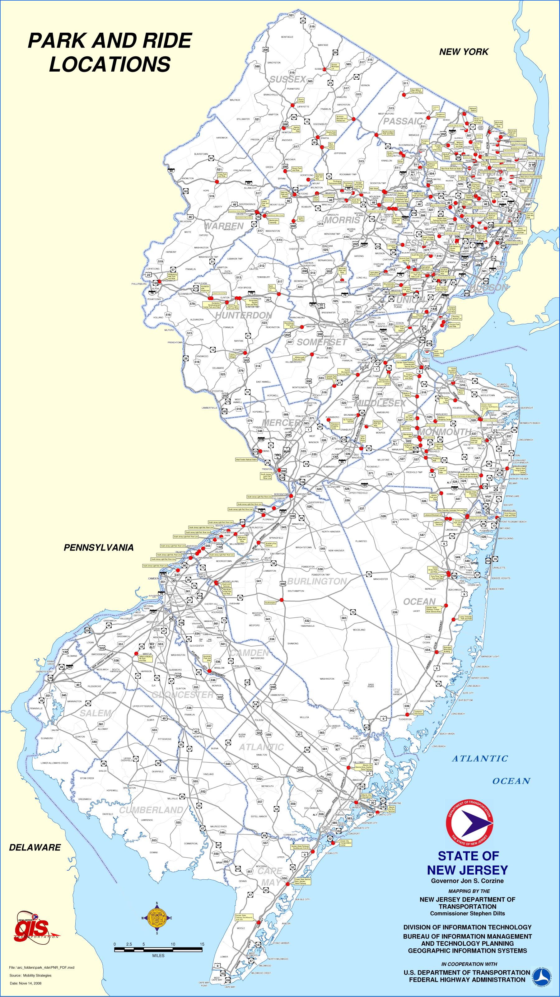 New Jersey Parking Map