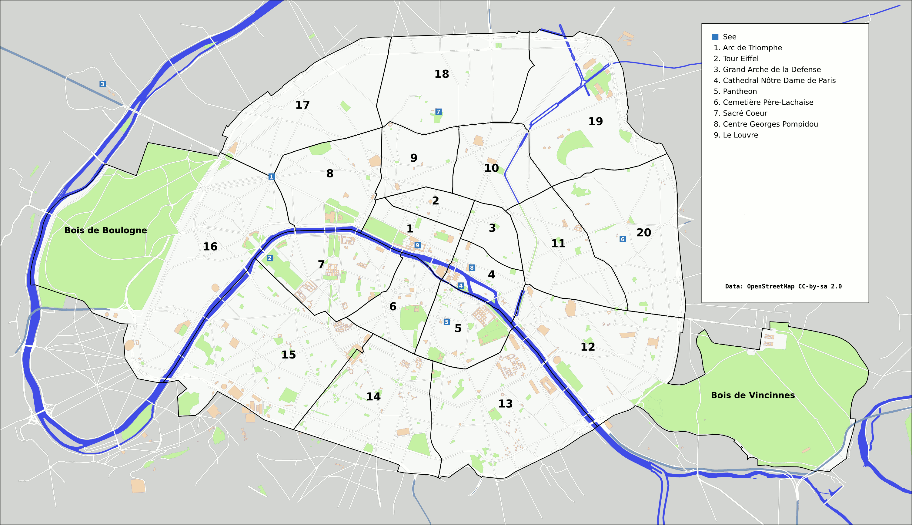 Paris Overview Map With Listings
