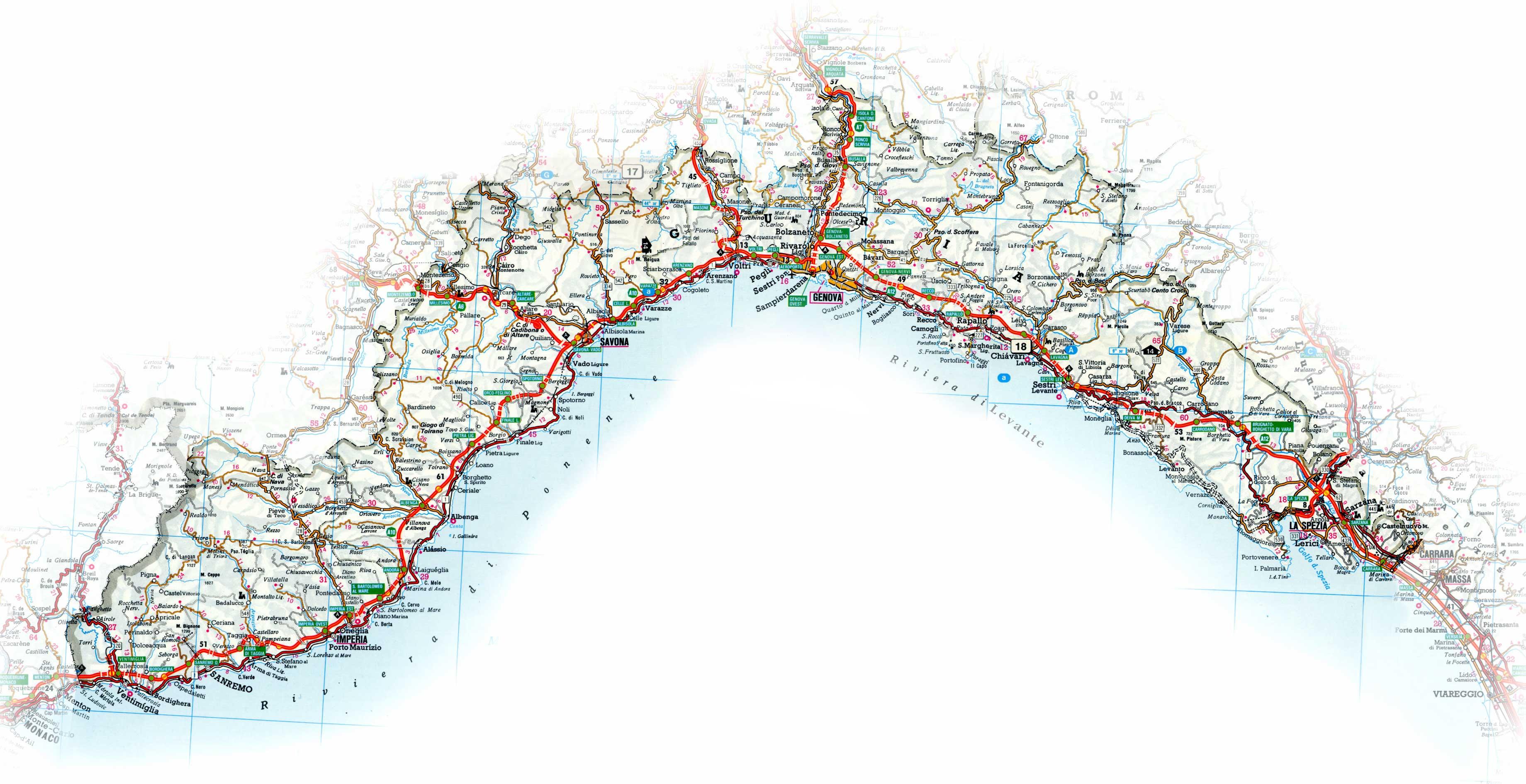 Political Map of Liguria