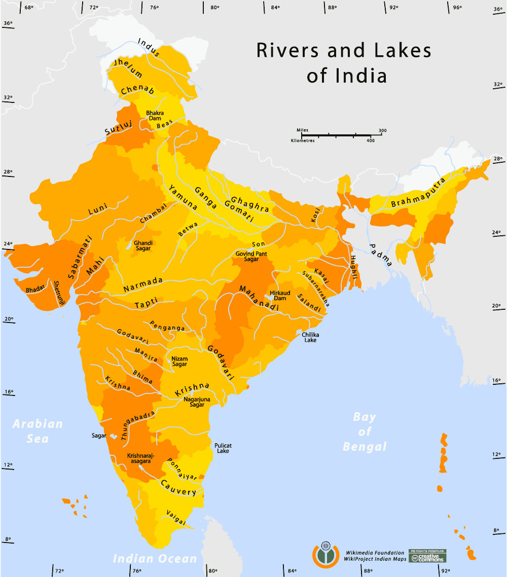 Rivers And Lakes Map