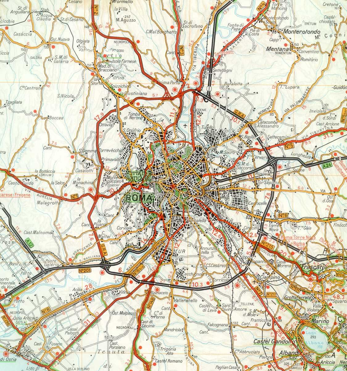 Rome City Detailed Map
