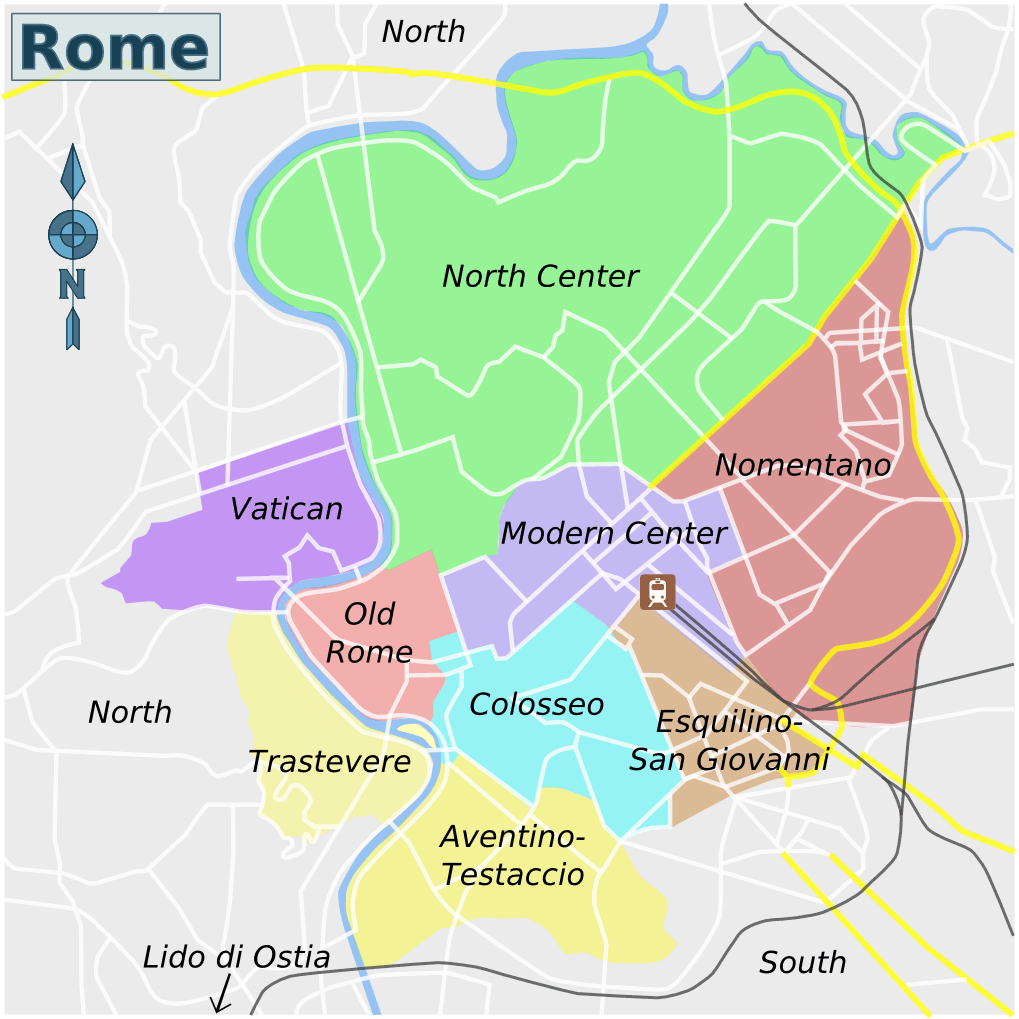 Rome Districts Map