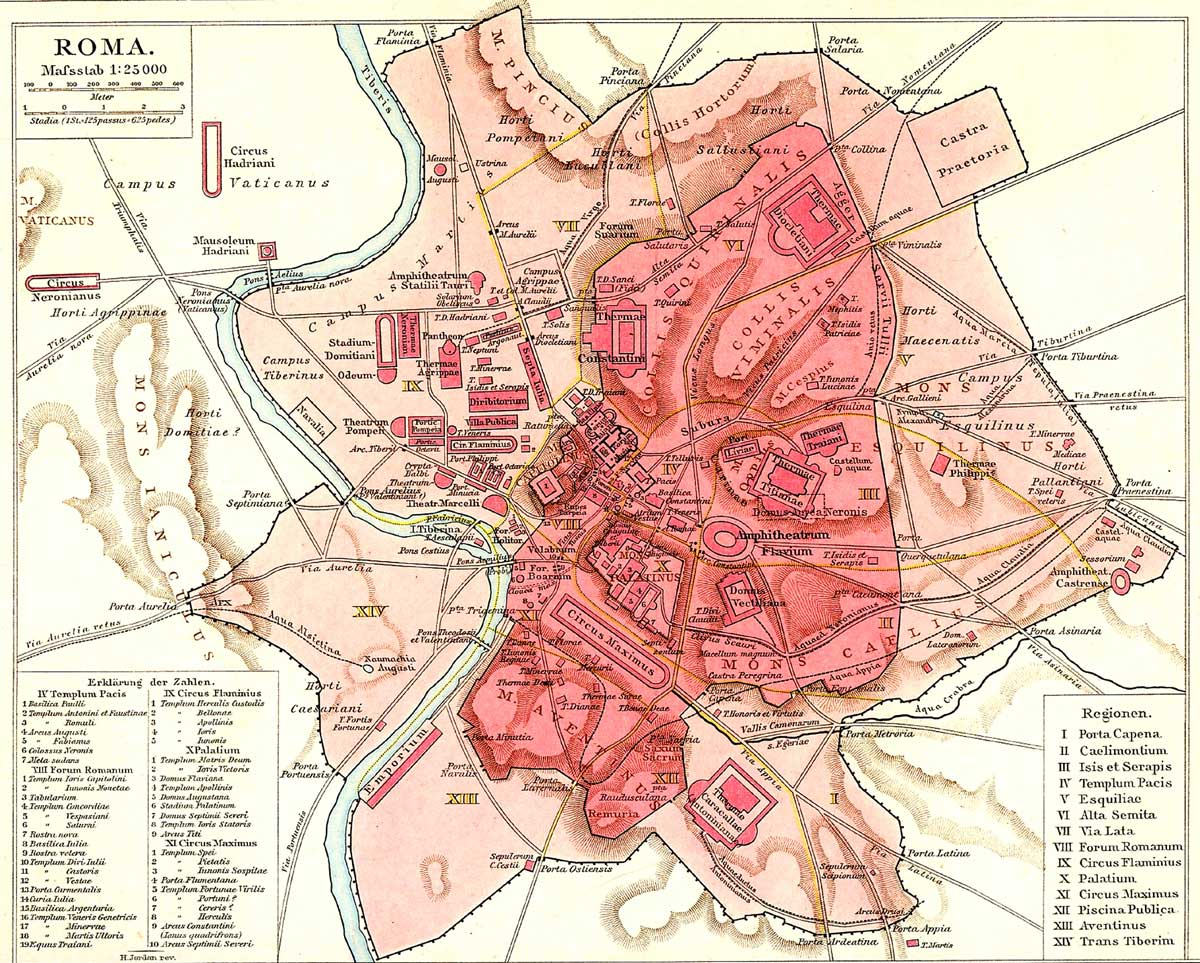 Rome Historical Map