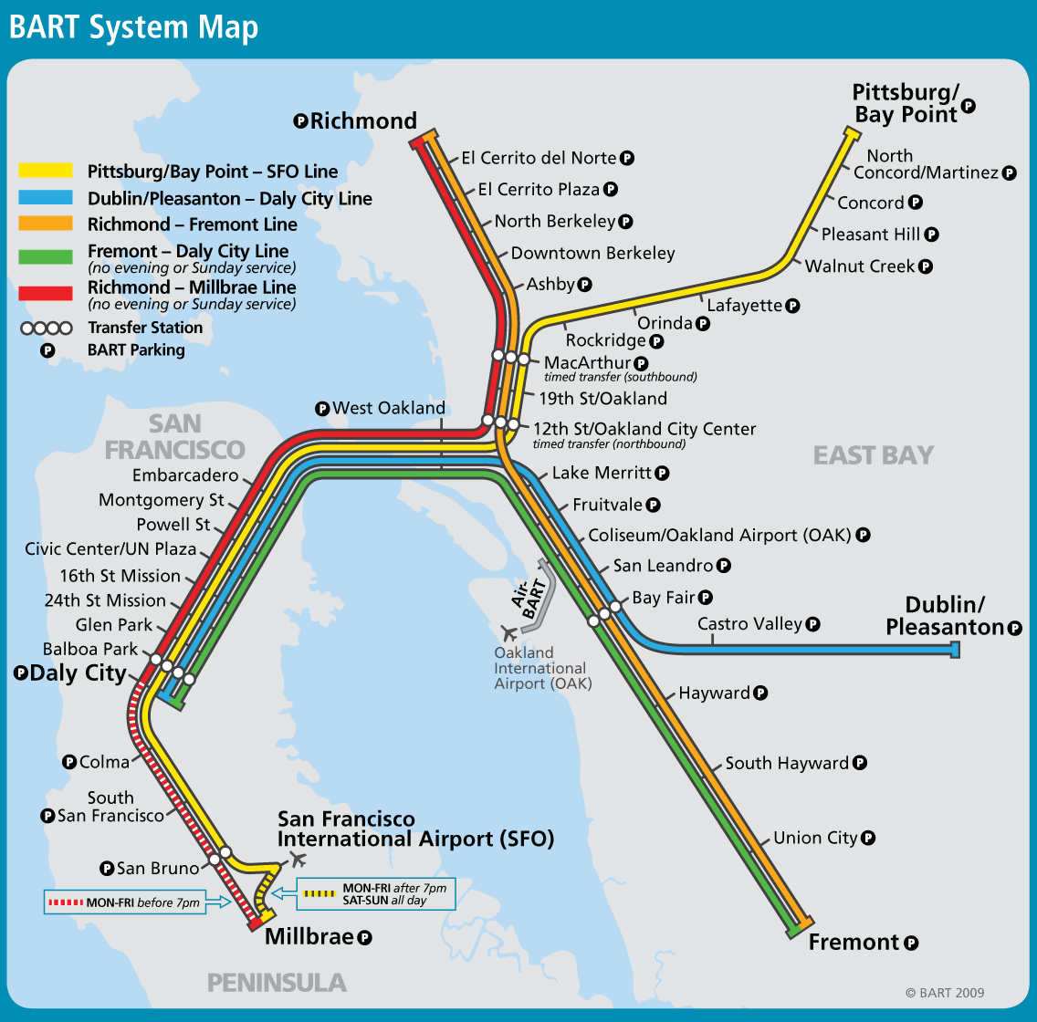 San Francisco Bay Area Metro Map Bartl Mapsof Net Bay area transportation map containing information on the majority of the public transportation options including buses, trains, and light rail web map от johnny.wu@colliers.com. san francisco bay area metro map bartl