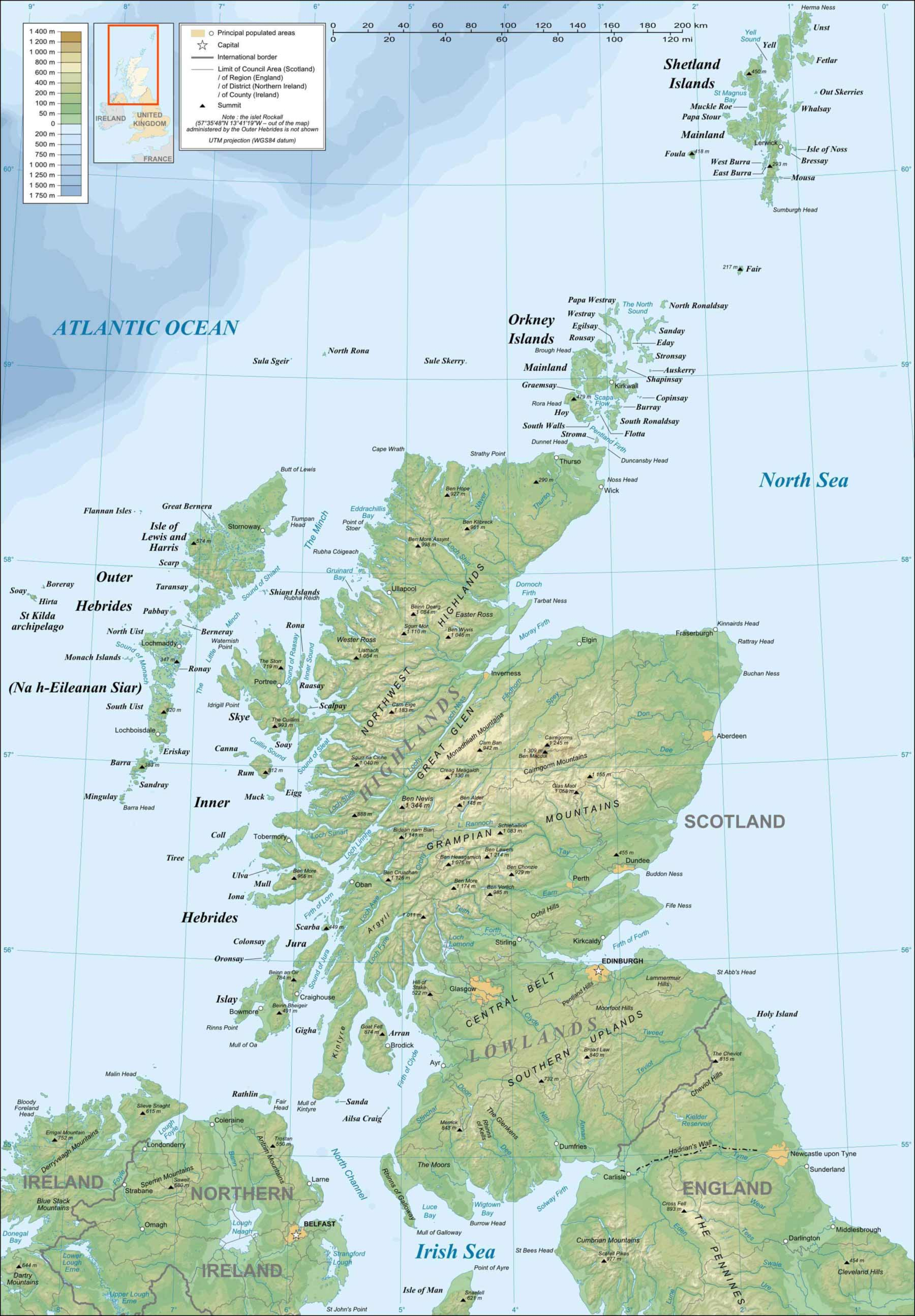 Scotland Topographic Map 3