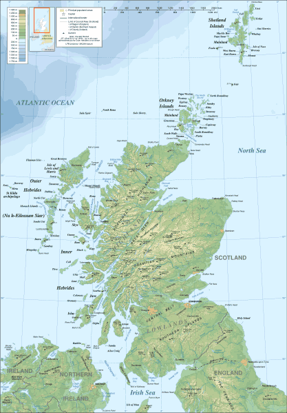 Scotland Topographic Map 1