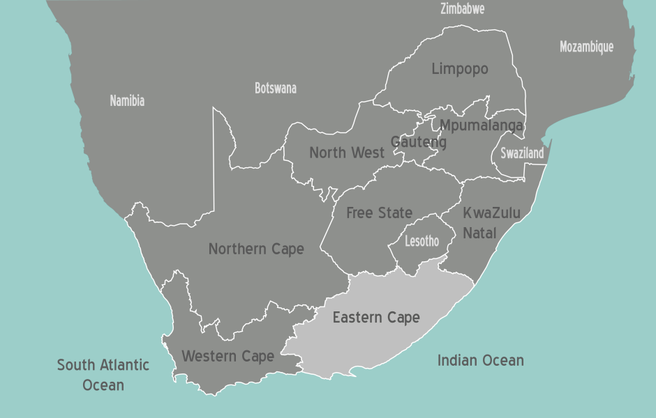 South Africa Eastern Cape Map
