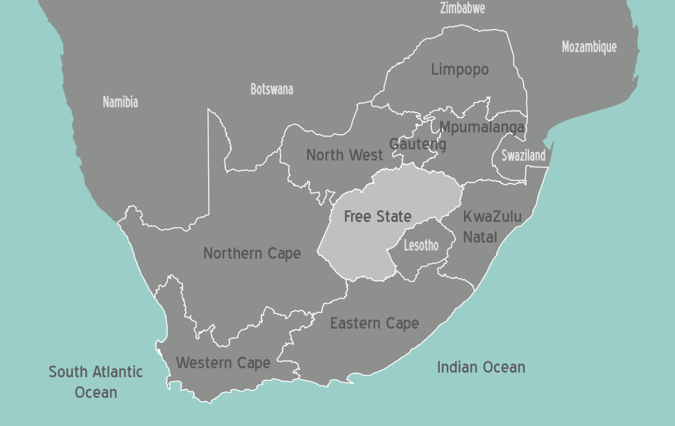 South Africa Free State Map