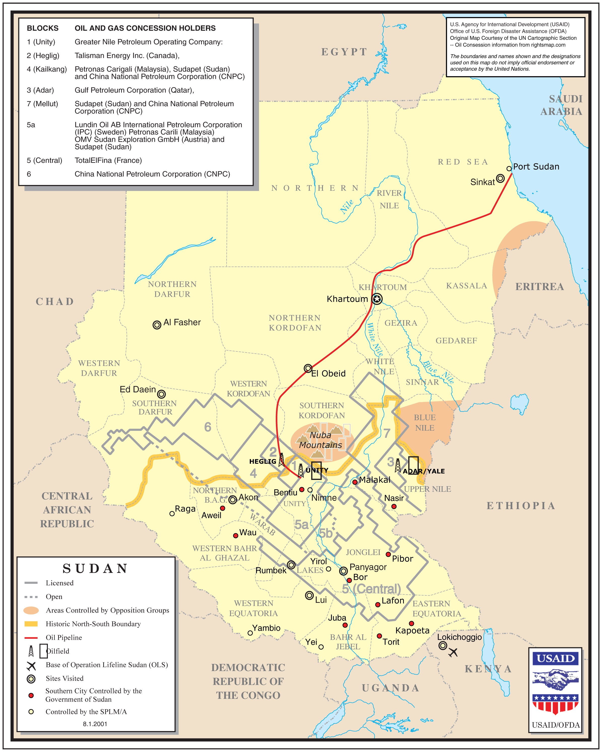 Sudan Oil And Gas Concession Holders