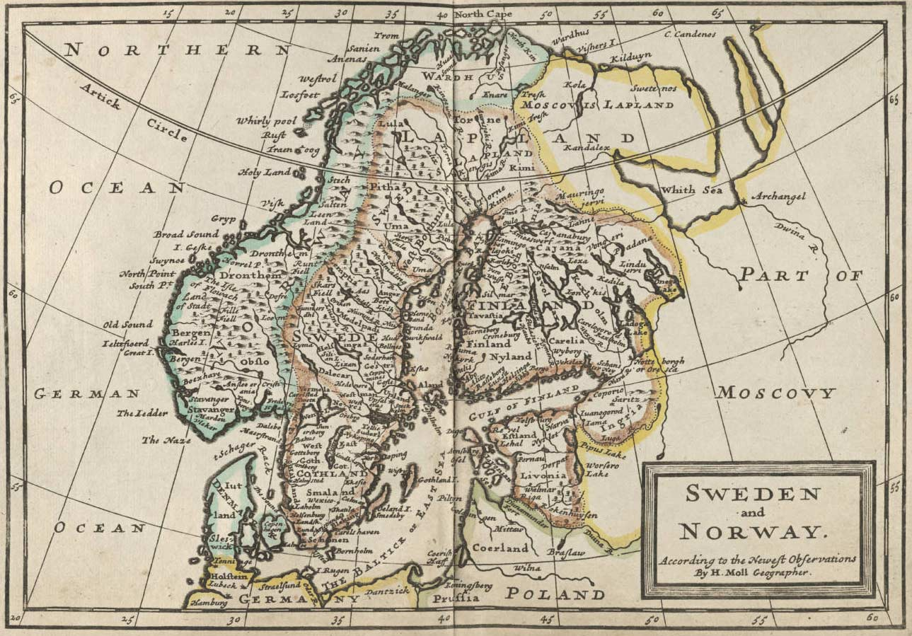 Sweden And Norway Historical Map