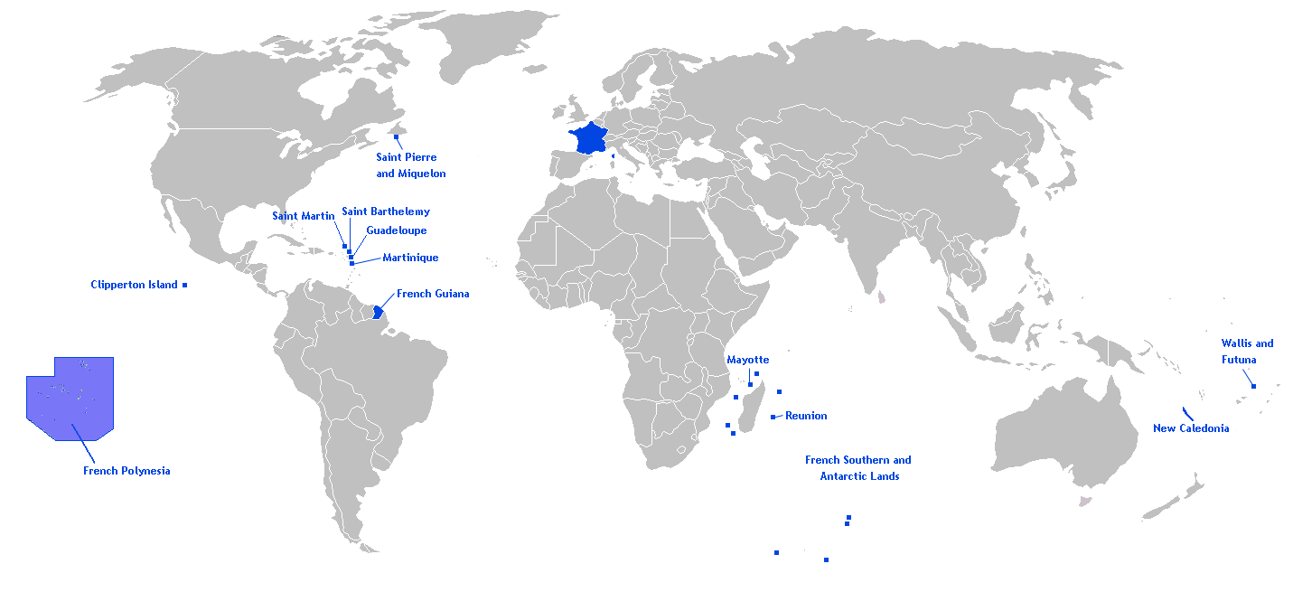 Territories of the French Republic In the World