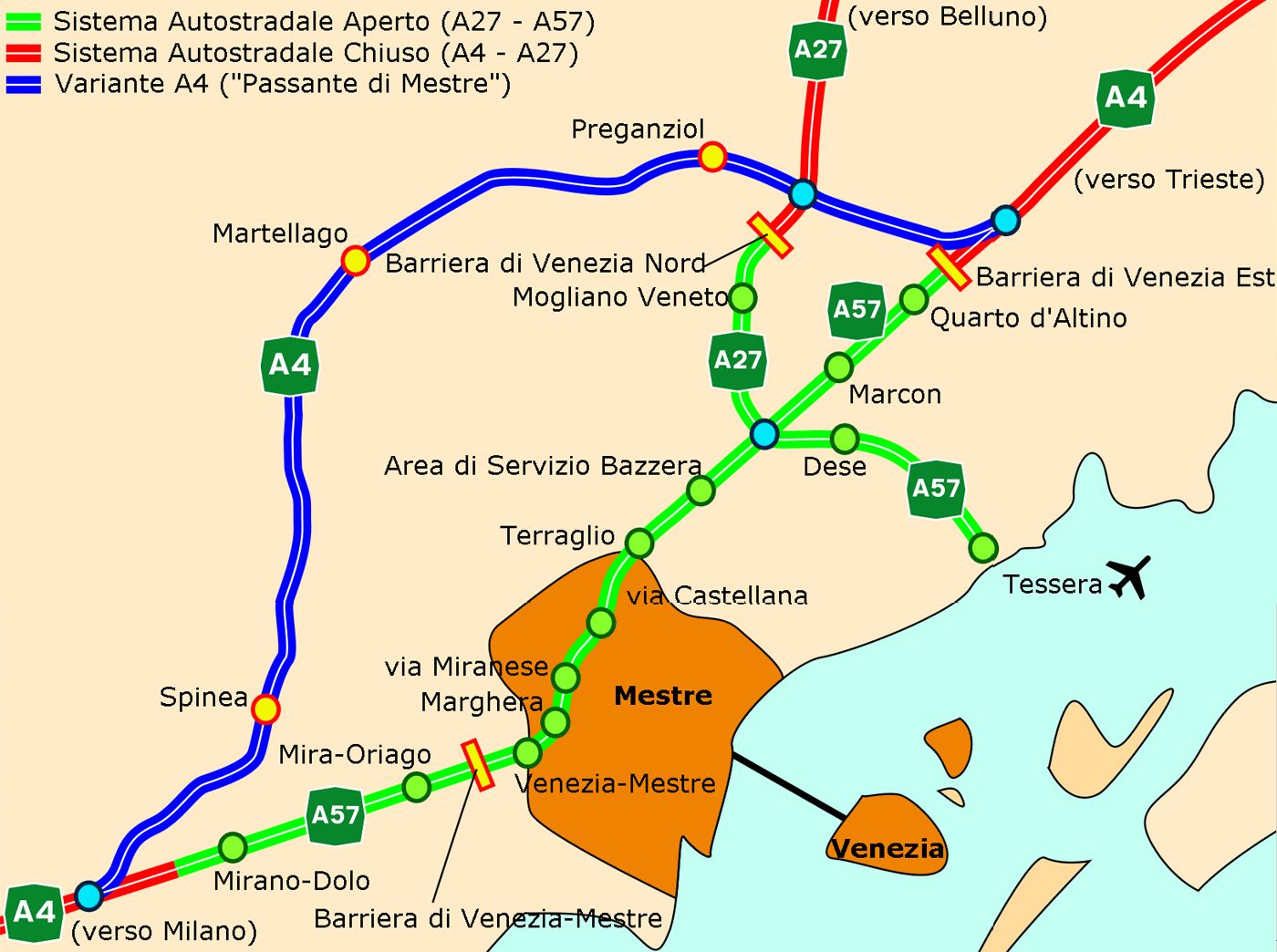 Transport Map Venice (venezia)