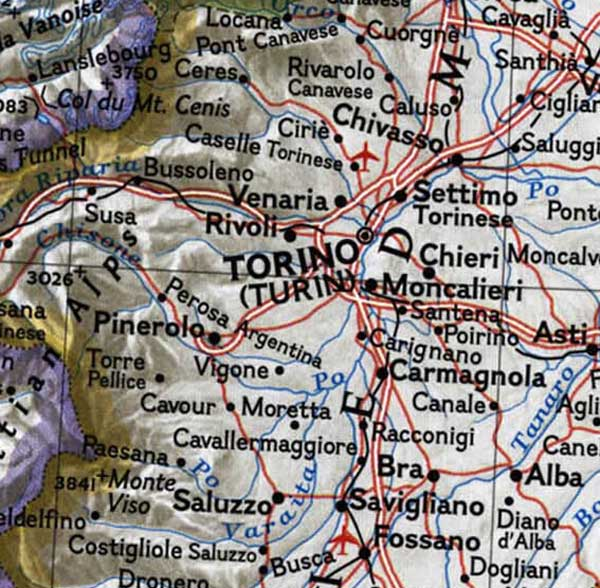 Turin Topographic Map