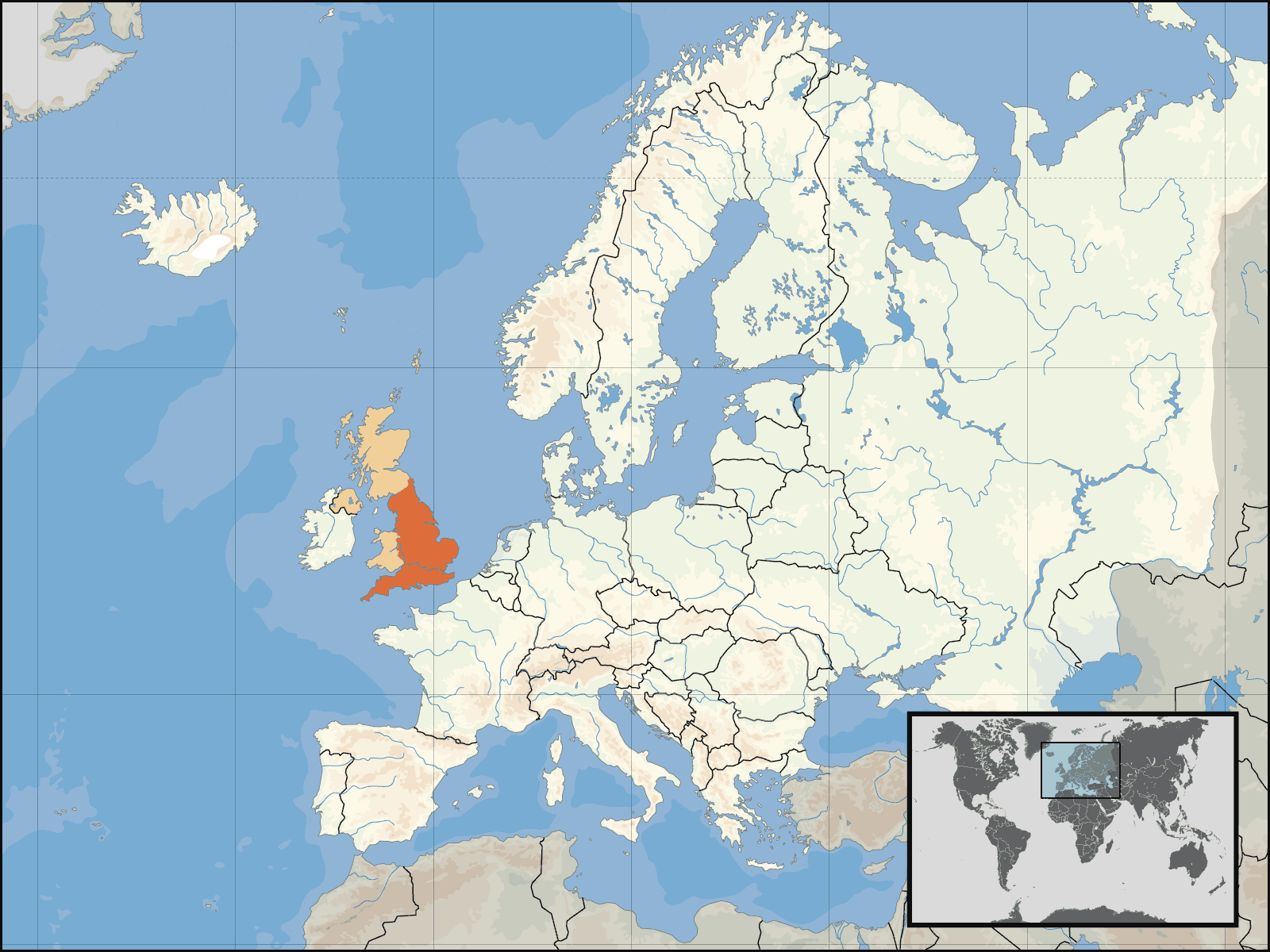 Uk Europe Location