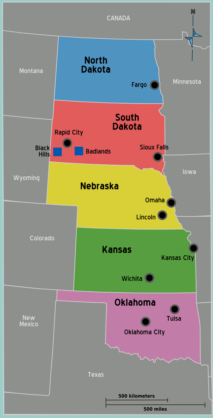 Usa Great Plains Map