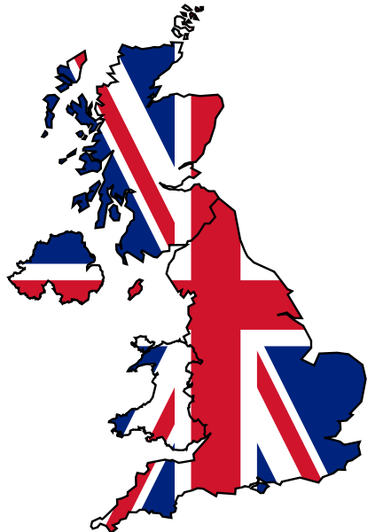 United Kingdom Flag Map