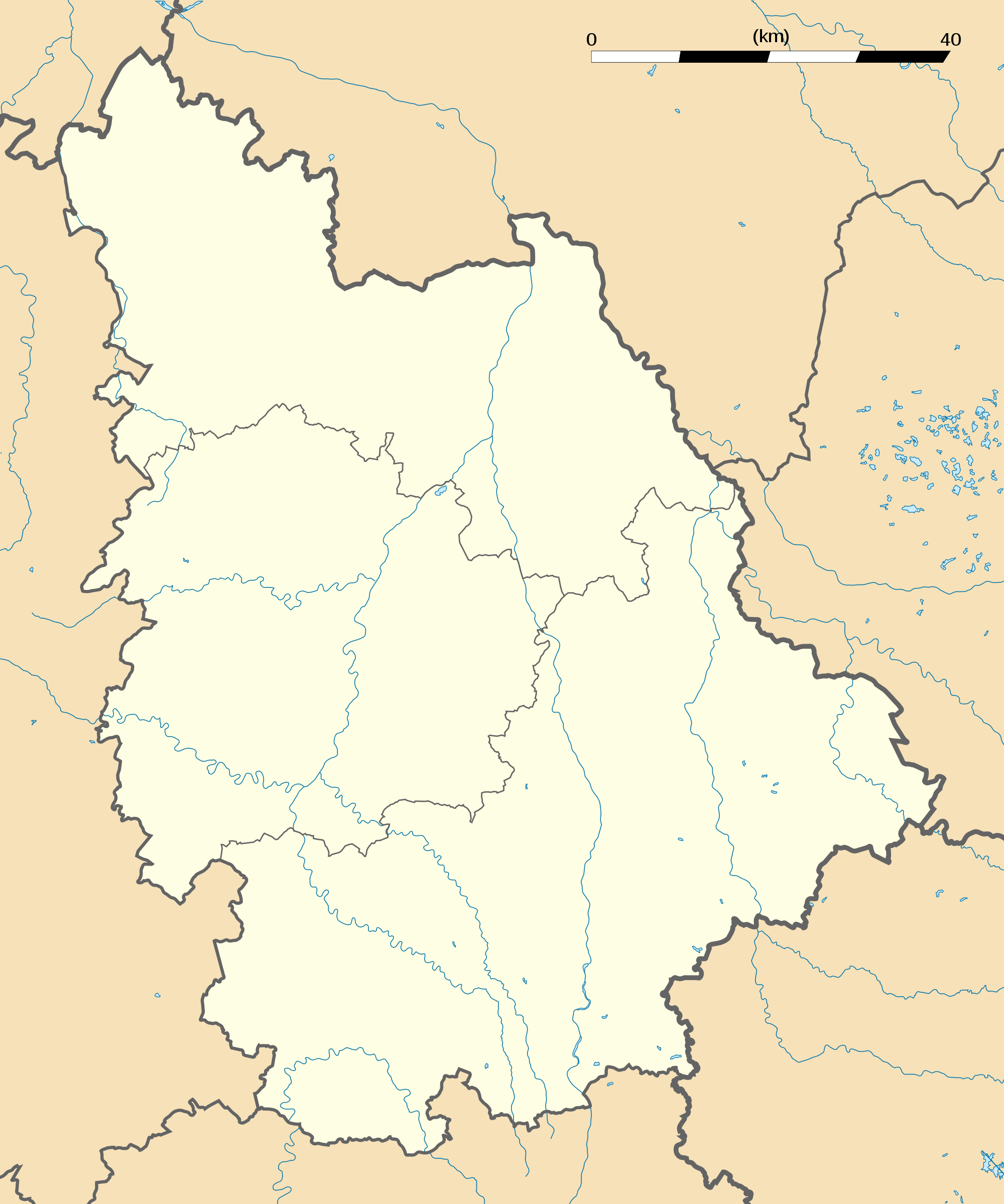 Vienne Department Location Map