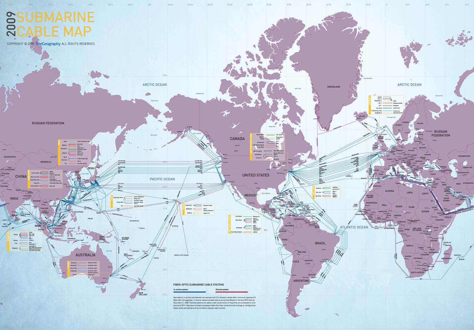 World Submarine Cable Map