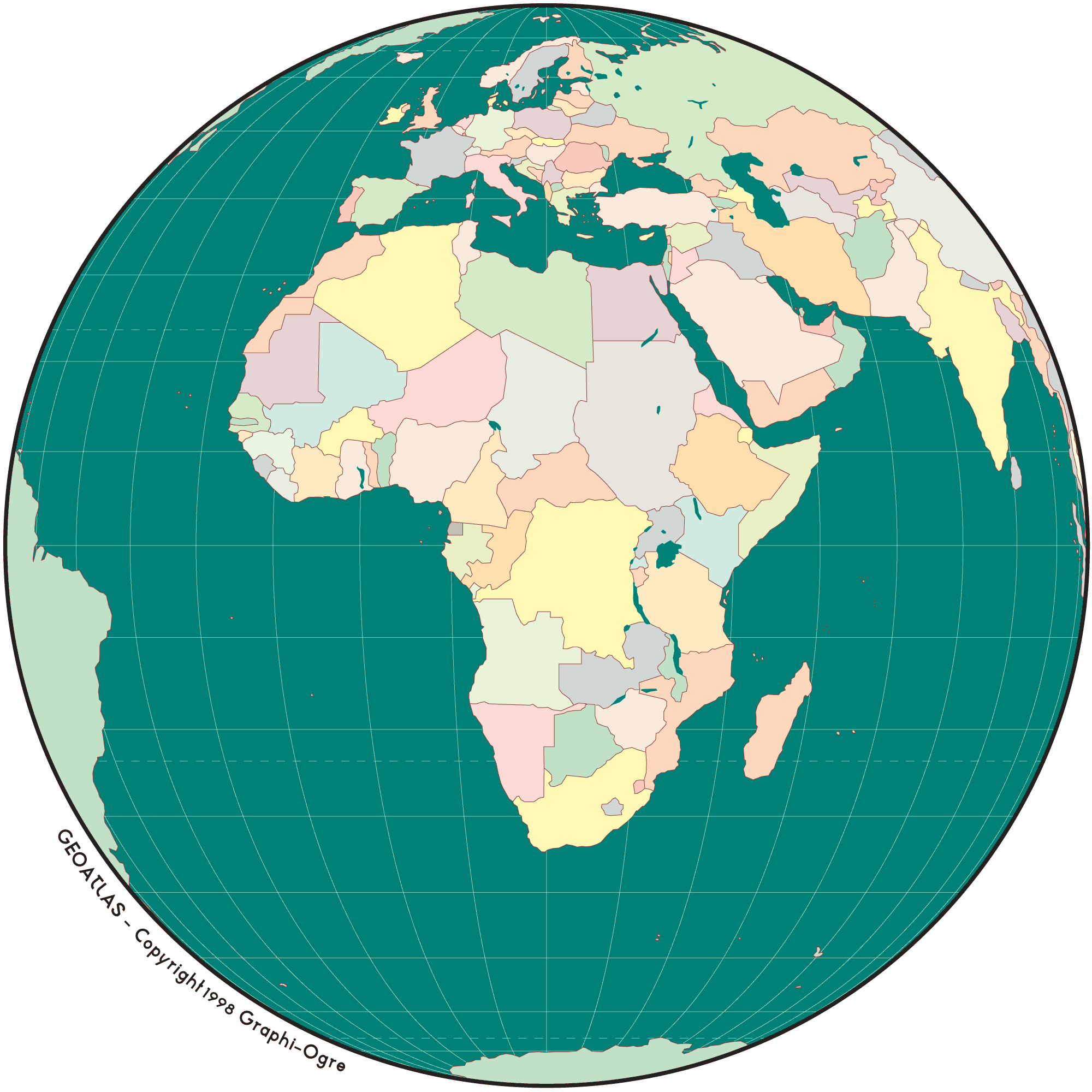 Africa Simple Map Globe