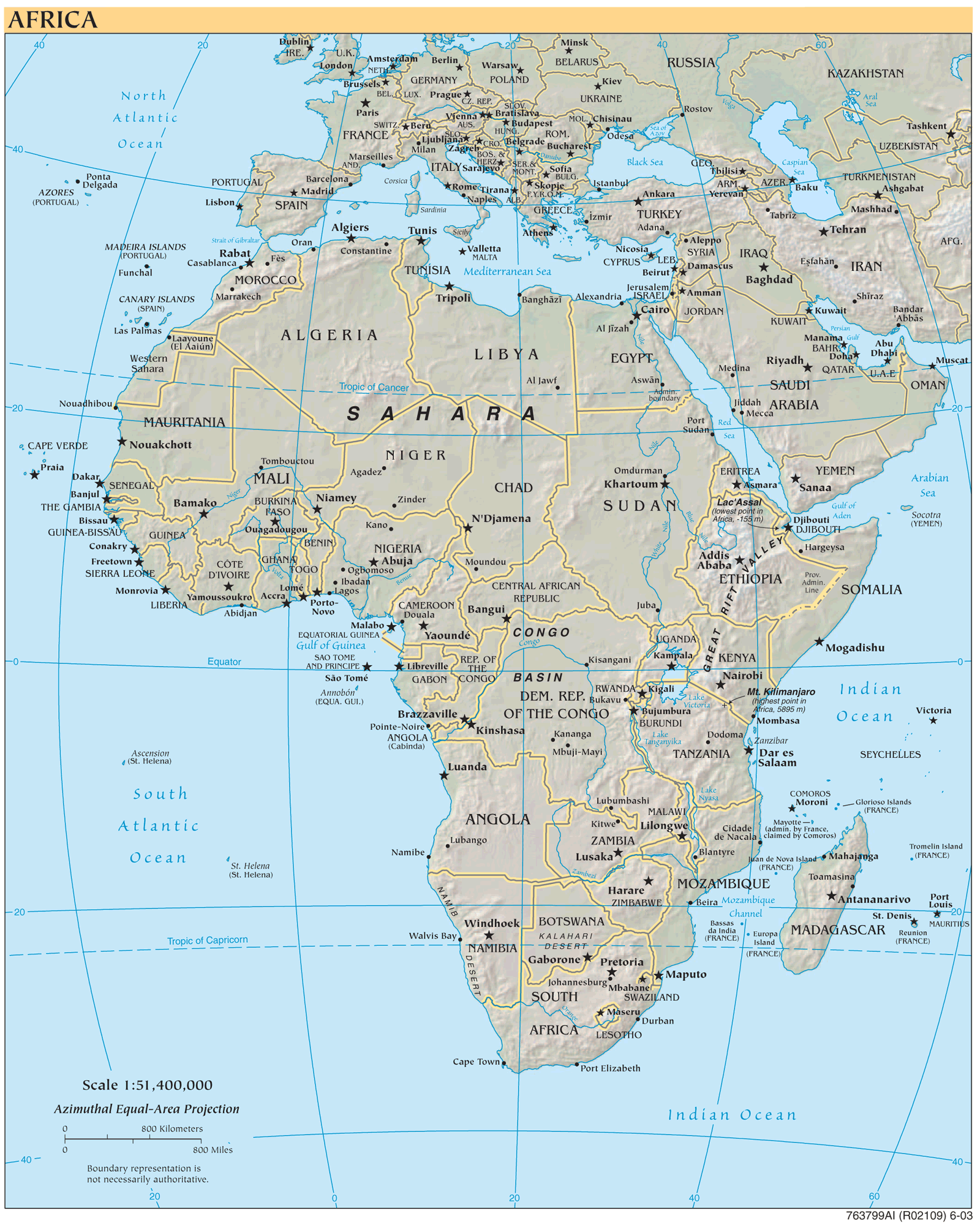 Africa Refeference Map