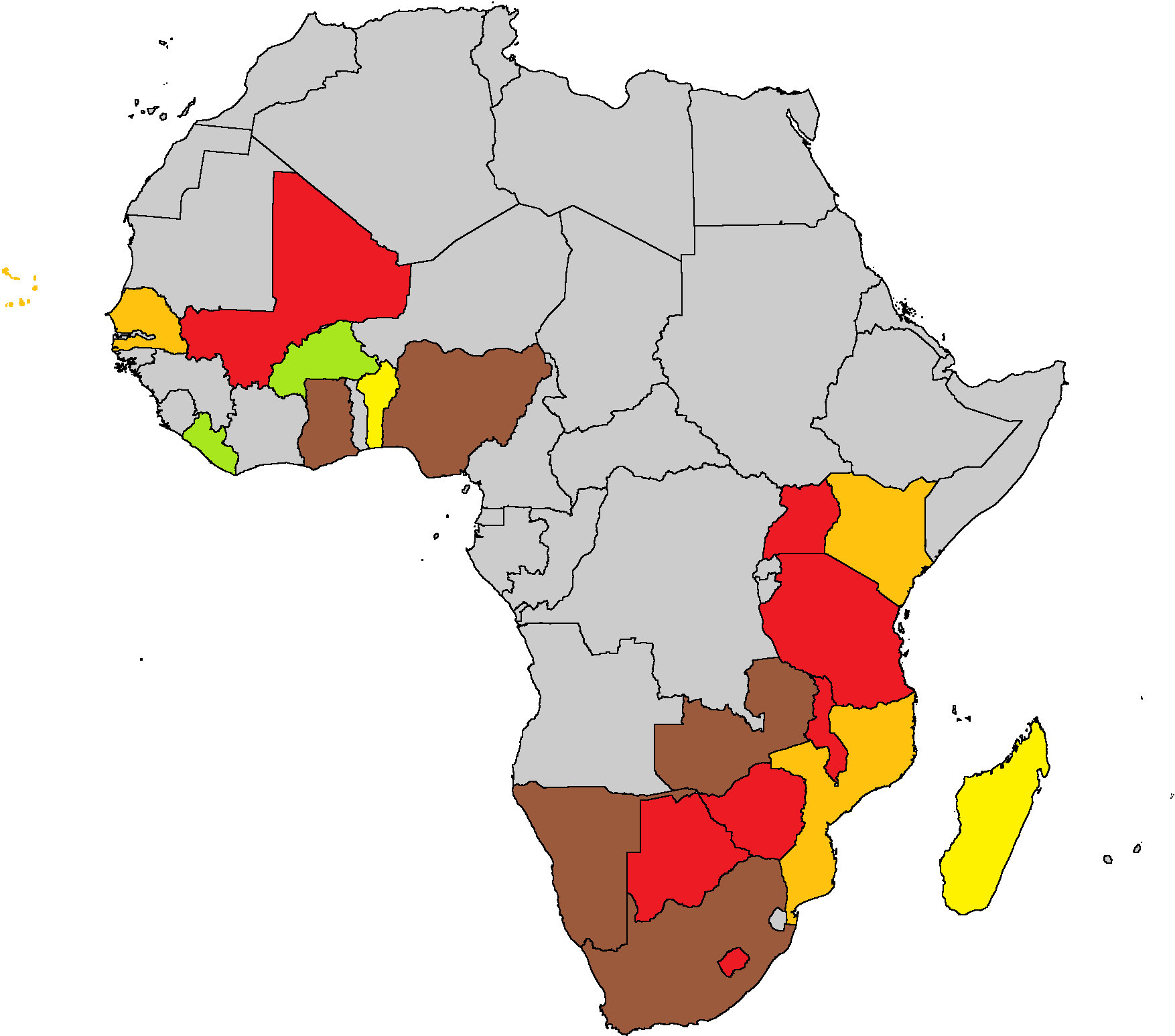 Afrobarometer Survey Countries