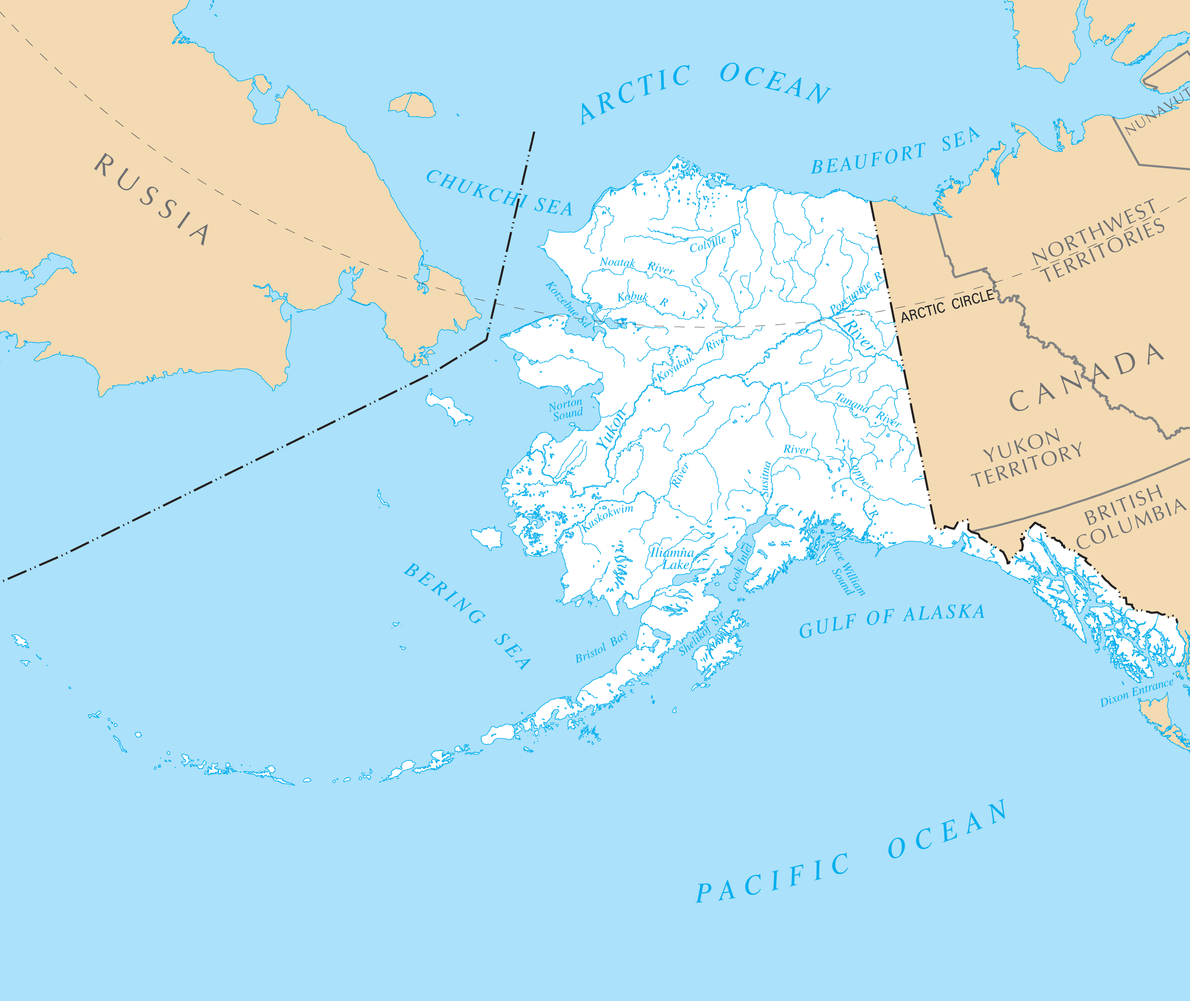 Alaska Rivers And Lakes