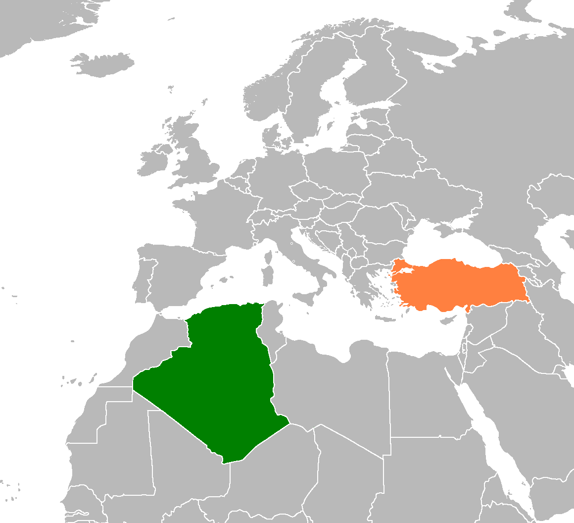 Algeria Turkey Locator 1