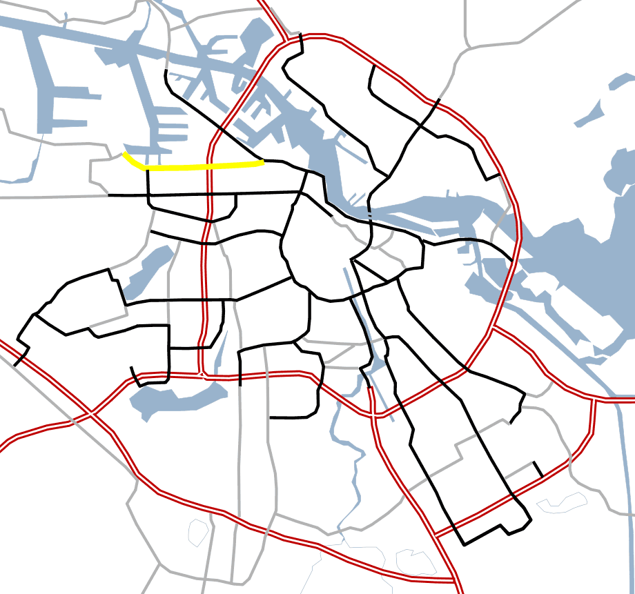 Amsterdam Outline S Roads  S102