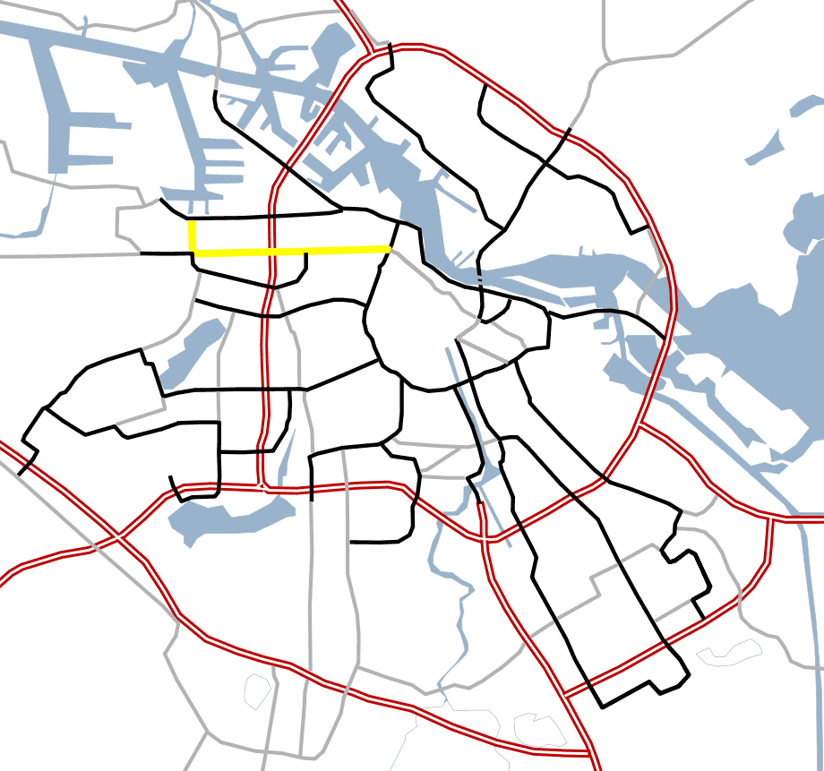 Amsterdam Outline S Roads  S103