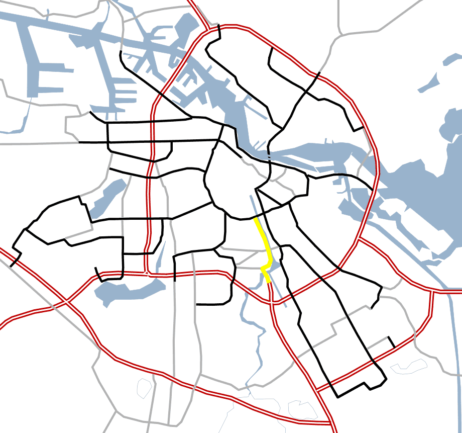 Amsterdam Outline S Roads  S110