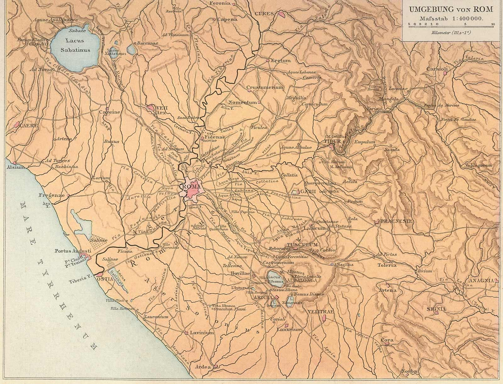 Ancient Rome Historical Map