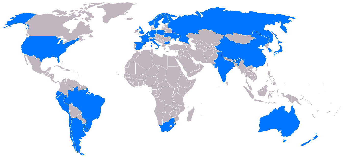 Antartic Nations Map