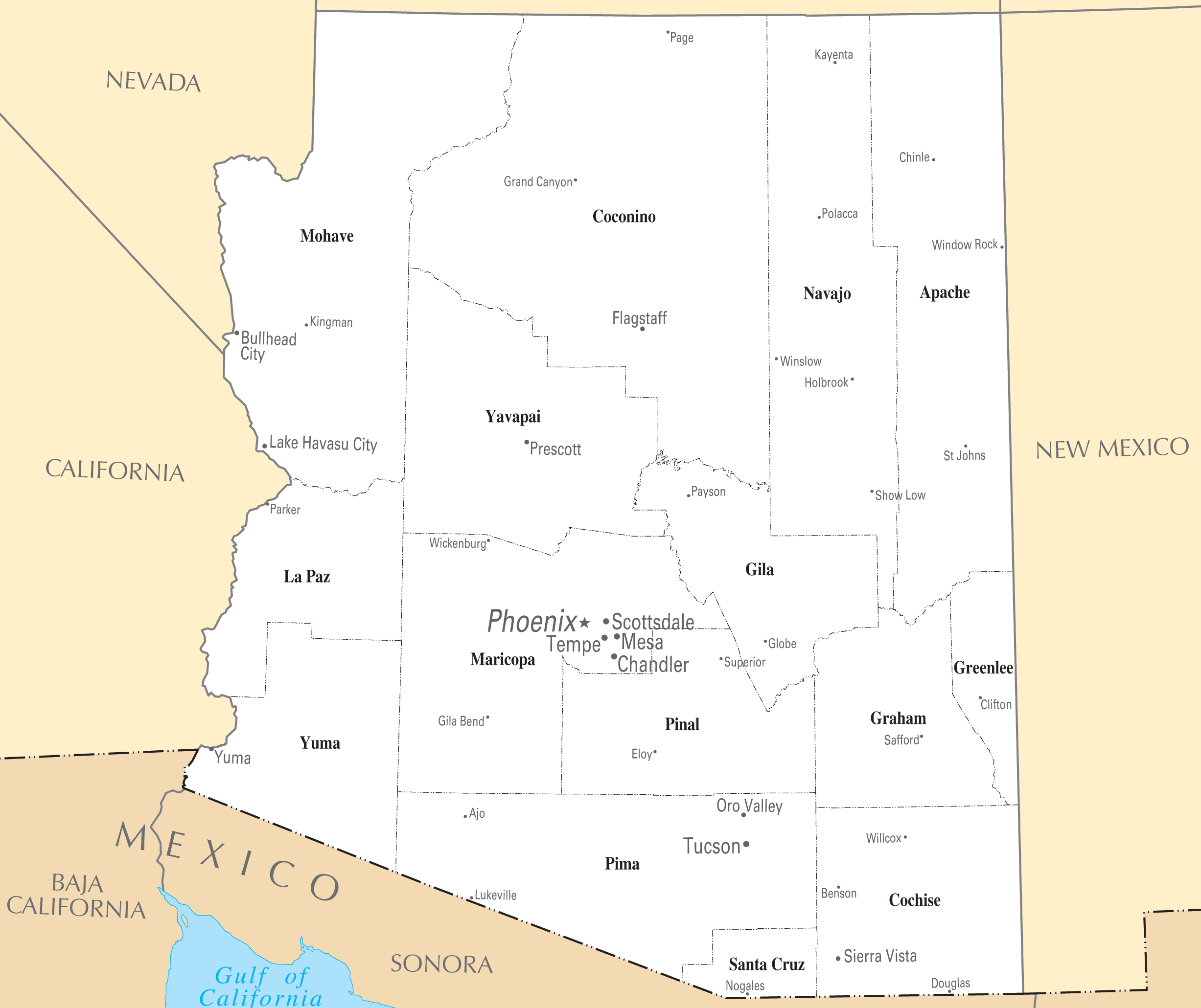 Arizona Cities And Towns