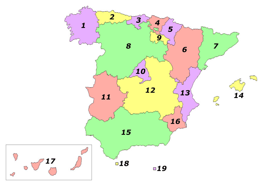 Autonomous Communities of Spain Interlang