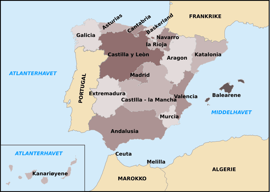 Autonomous Communities of Spain With Other Countries No